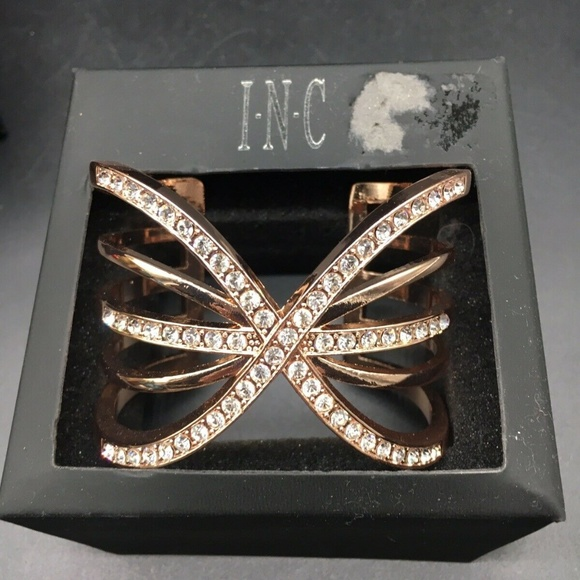INC International Concepts Jewelry - INC Rose Gold Tone Pave Cuff Bralette I.N.C.